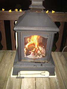 Deck campfire